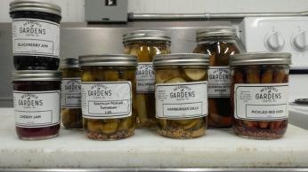 pickles, pickled okra, jam